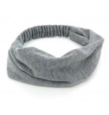 Bandeau coton large gris zoom