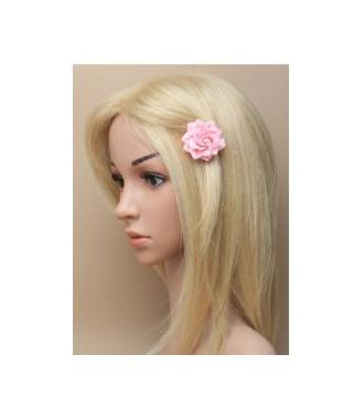 Barrette clip camélia rose
