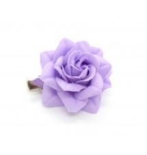 Barrette clip camélia violette dos
