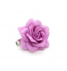 Pince clip camélia rose foncé dos
