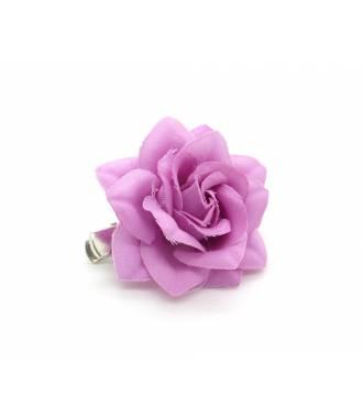 Pince clip camélia rose foncé