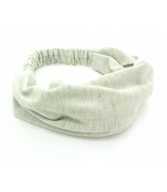 Bandeau coton large gris clair