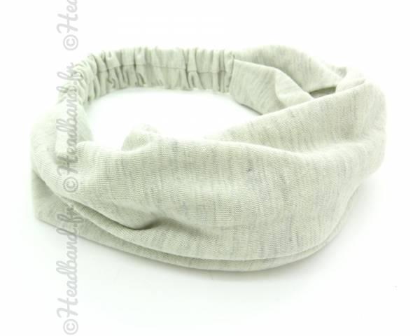 Bandeau fichu coton gris clair
