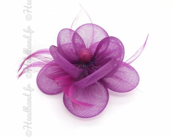 Bibi tulle fleur rose fushia