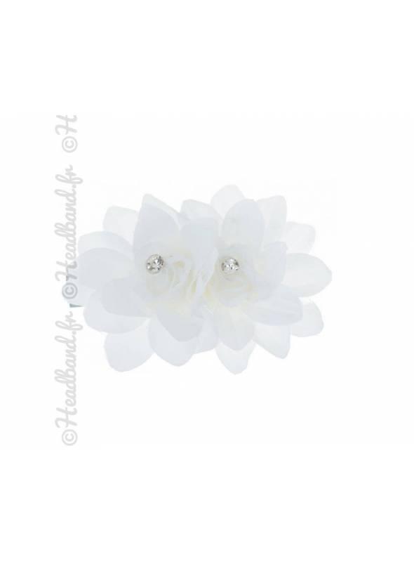 Barrette fleur blanche mariée