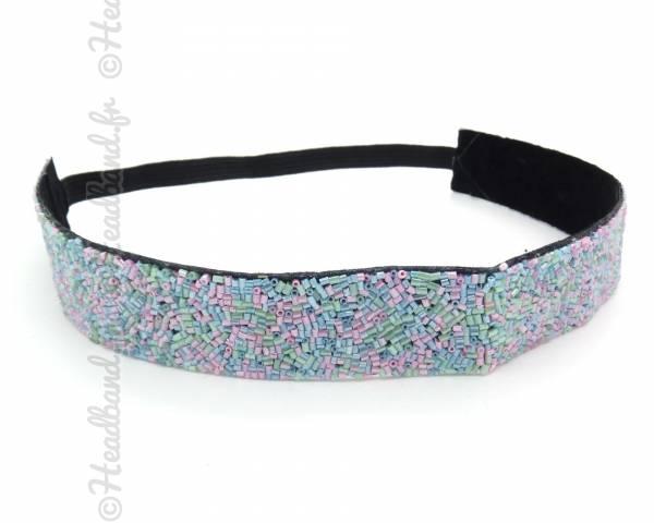 Bandeau perles multicolore
