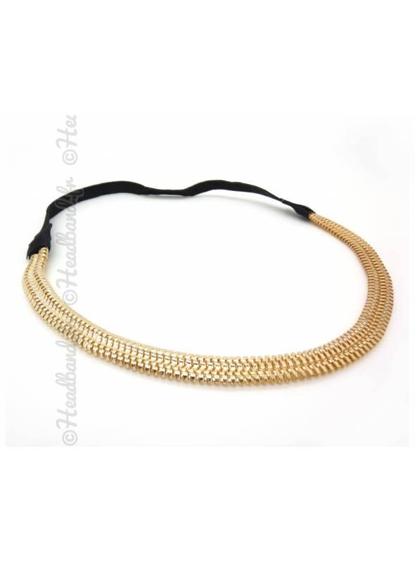 Headband acier doré