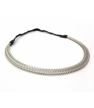 Headband acier argenté