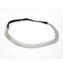 Headband triangles métal argenté porté