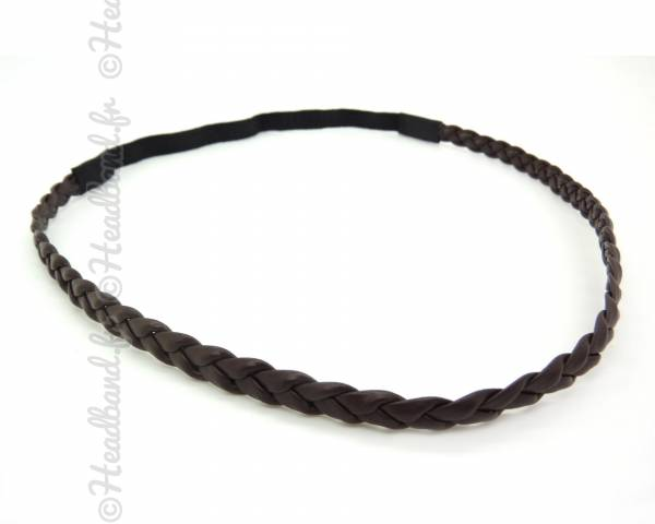 Headband simple marron