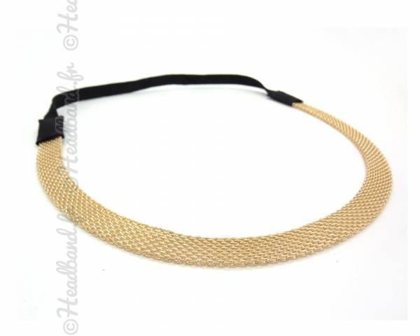 Headband maille doré
