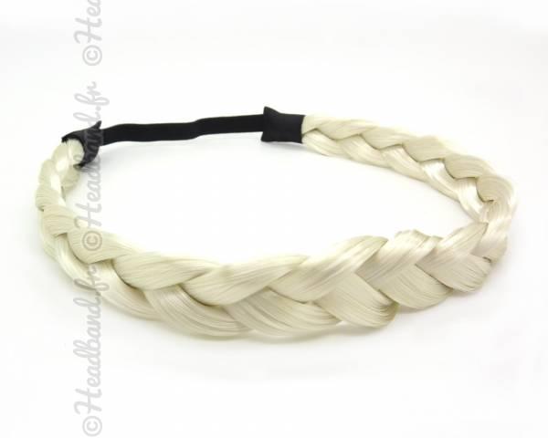 Headband tresse blond clair