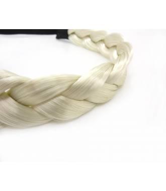 Headband tresse blond clair zoom