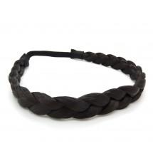 Headband tresse cheveux noir zoom