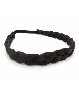 Headband tresse cheveux noir