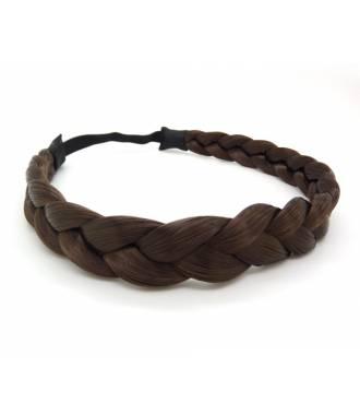 Headband tresse châtain foncé