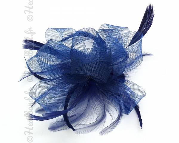 Barrette bibi tulle bleu