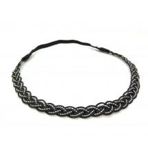 Headband indian noir porté