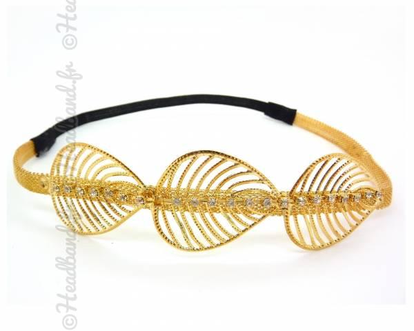 Headband triple feuille filigranne