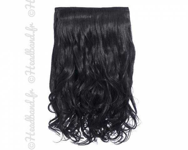 Extension cheveux monobande ondulée 45 cm - Noir