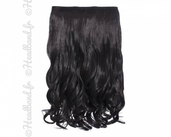 Extension cheveux monobande ondulée 45 cm - Brun