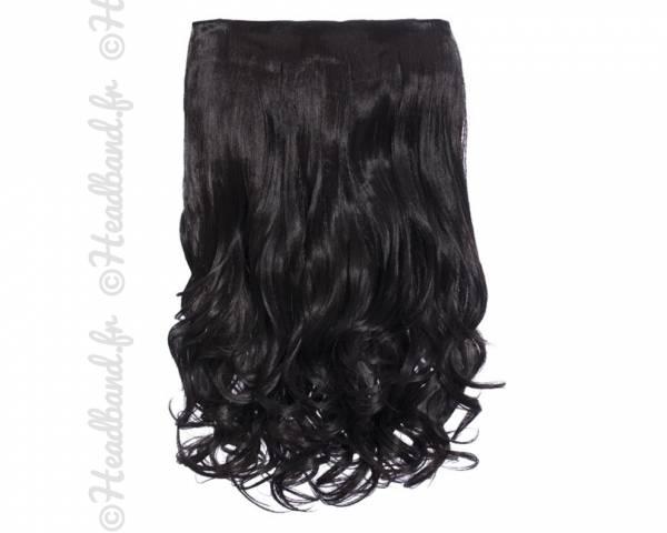 Extension cheveux monobande ondulée 45 cm - Châtain foncé