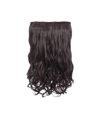 Extension cheveux monobande ondulée 45 cm - Châtain chocolat