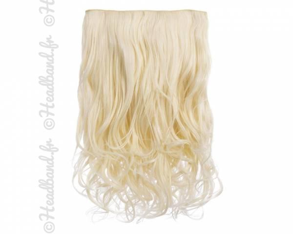 Extension cheveux monobande ondulée 45 cm - Blond platine