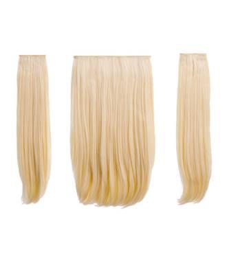 Extensions 3 pièces raides 45 cm - Blond platine