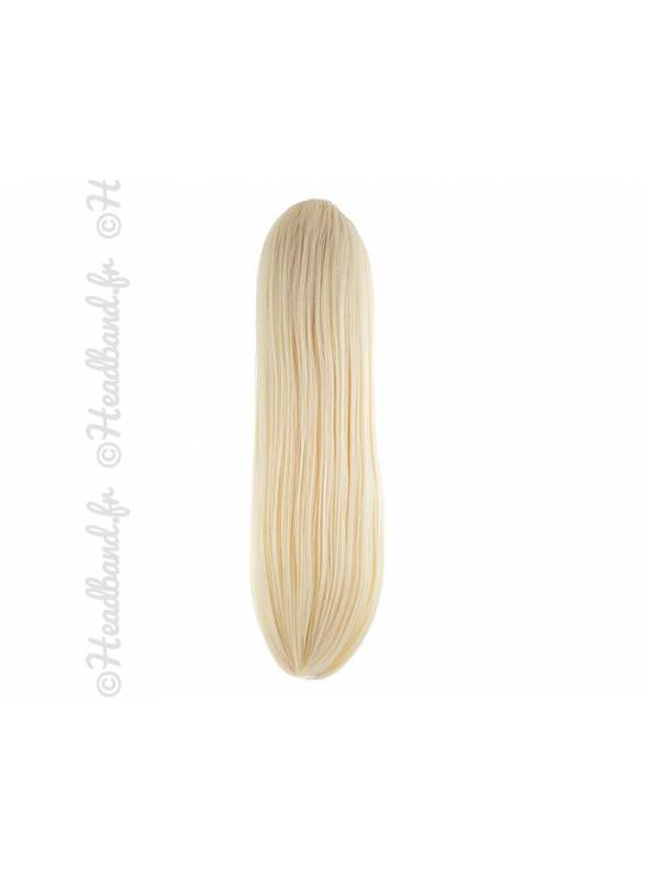 Ponytail raide - blond platine