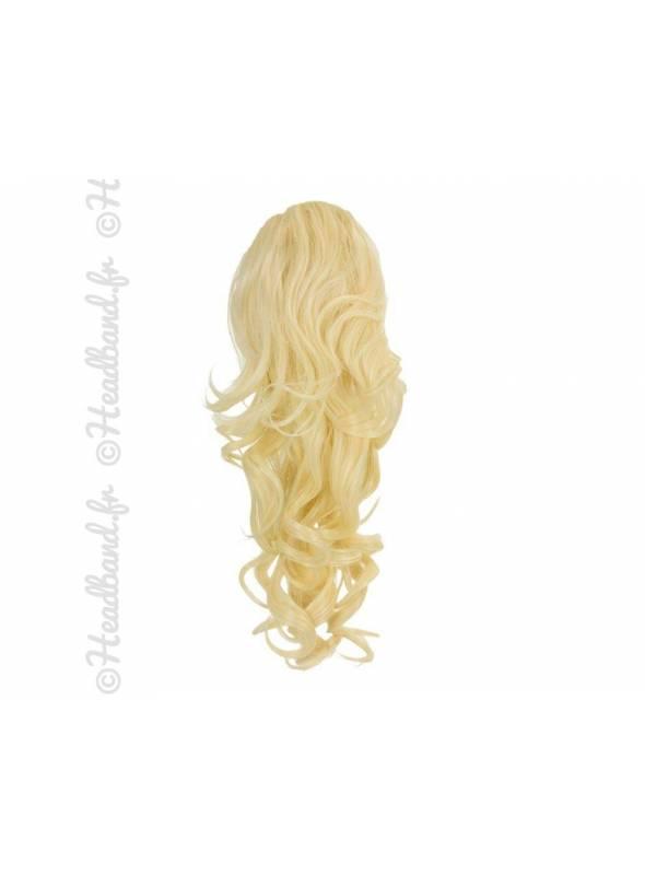 Ponytail ondulée - blond platine