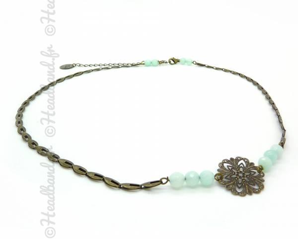 Headband Paloma vert d'eau