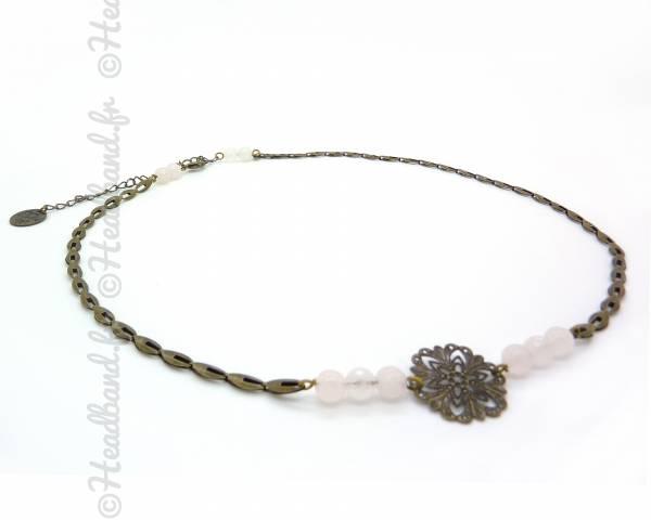 Headband Paloma quartz rose