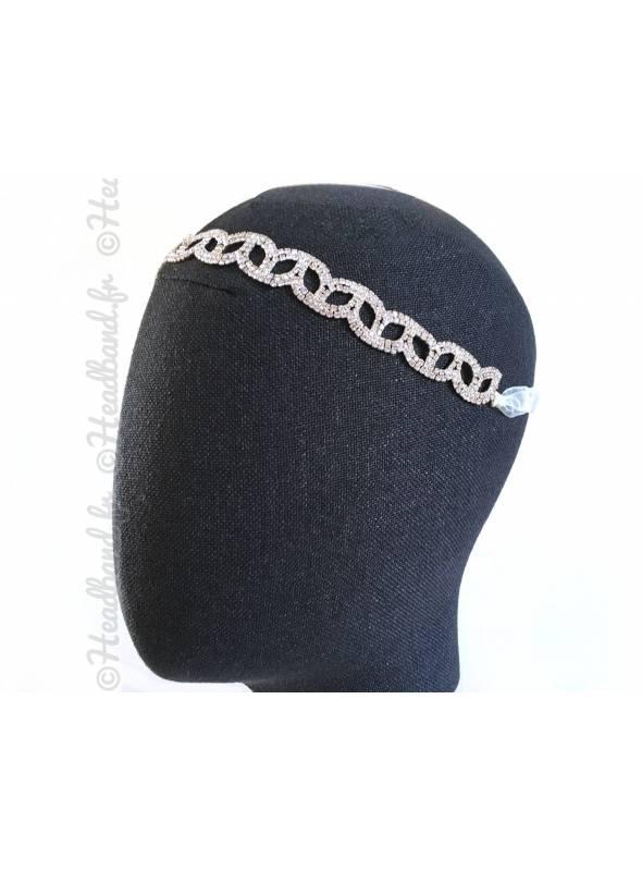 Tour de tête délicat strass porté