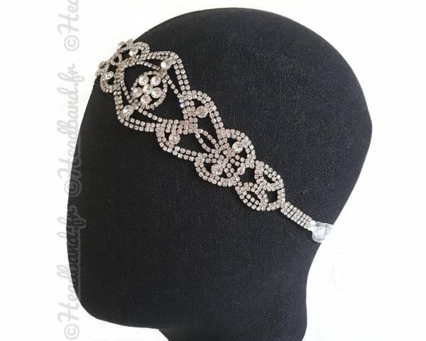 Tour de tête strass ruban