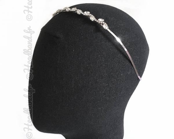 Tiare argentée cristaux en épi