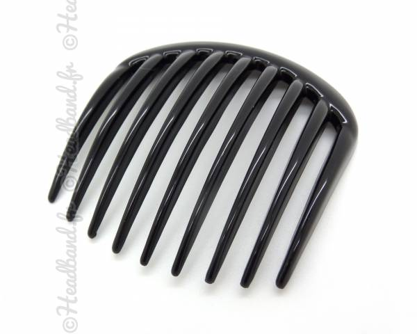 Peigne cheveux large dents noir