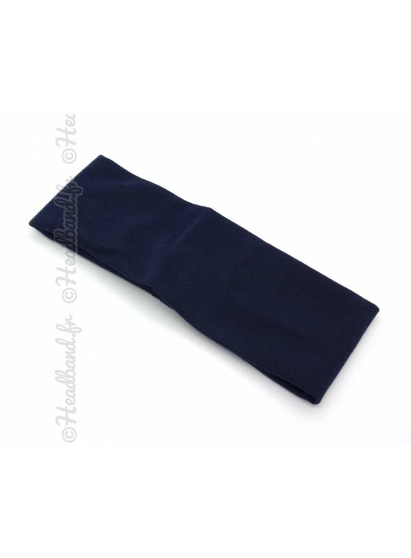 Bandeau jersey bleu marine