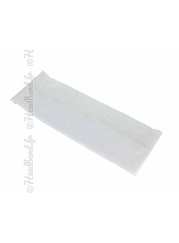 Bandeau jersey large blanc