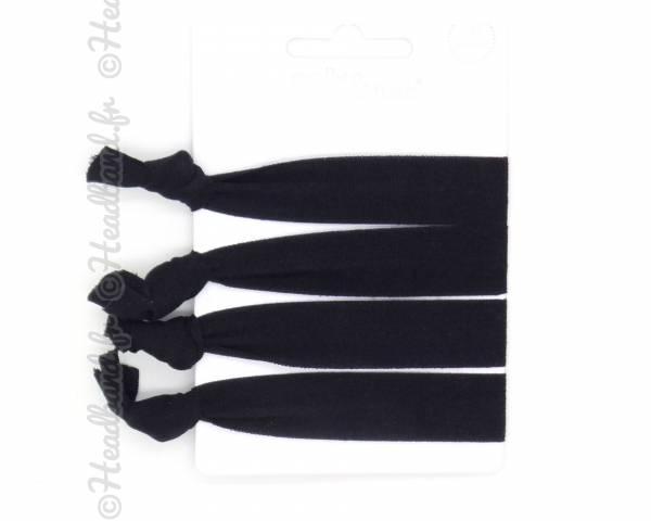 Elastiques souples noir lot 4