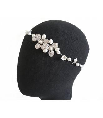 Tour de tête perles déco fleur