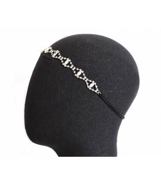 Bandeau cristaux précieux stretch porté