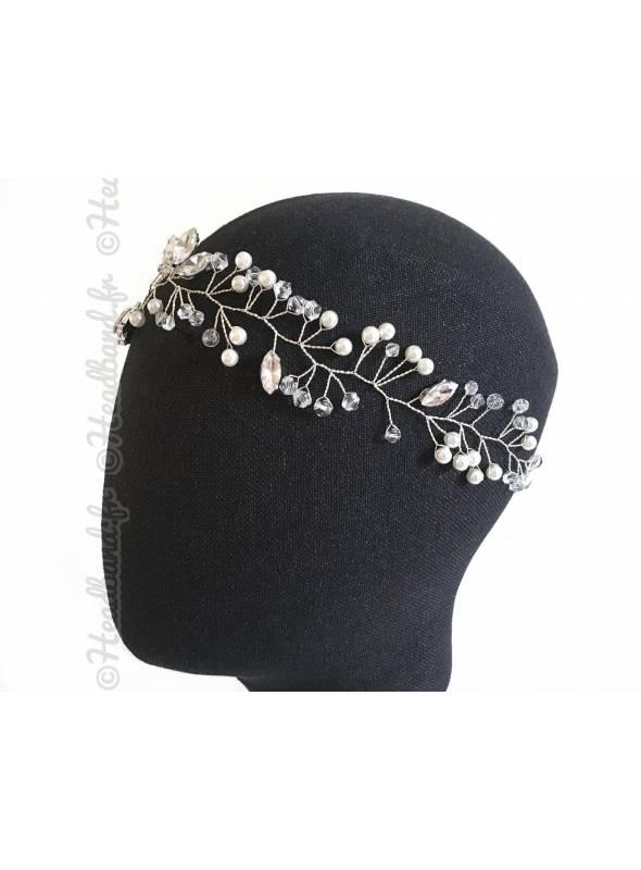 Headband vigne strass épi porté