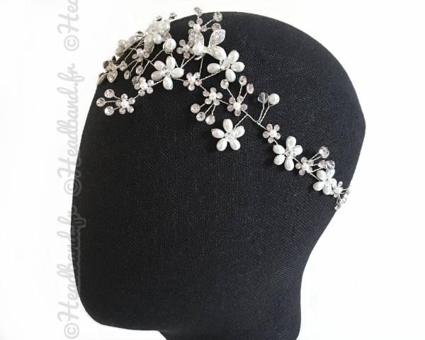 Tour de tête branchage perles
