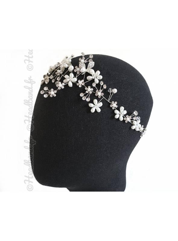 Tour de tête branchage perles porté