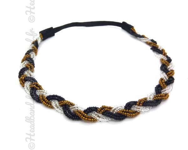 Headband tressé perles