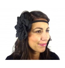 Headband pin-up noir porté