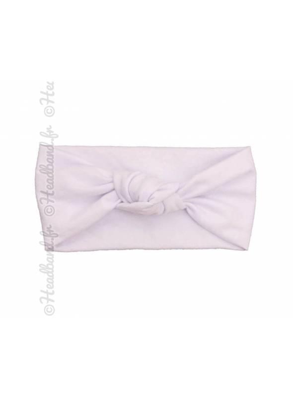 Bandeau fille noeud blanc