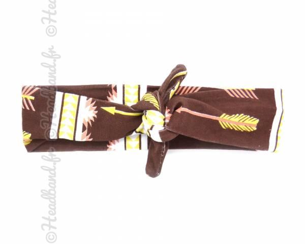 Bandeau motifs ethniques marron