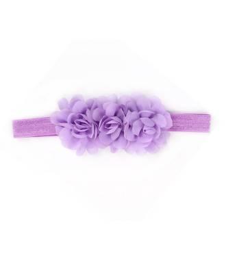 Bandeau mousseline fleur violette